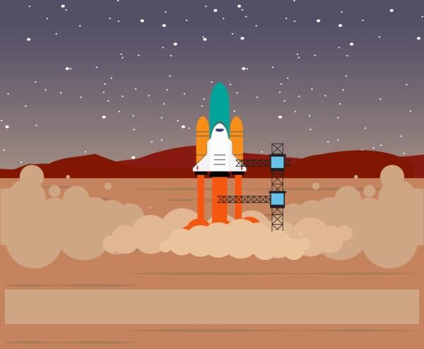 Nasa Rocket Launch Vector Art & Graphics