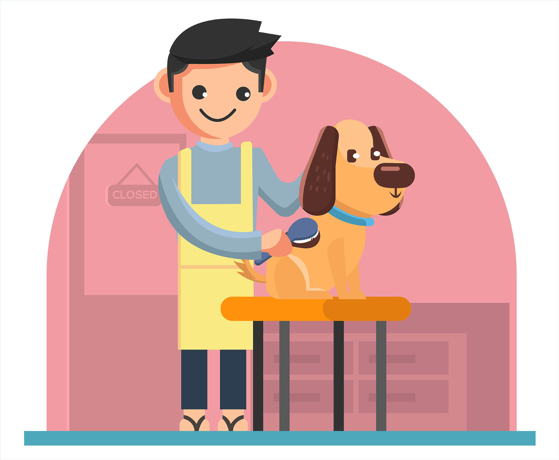 Dog Grooming Sevice Vector Vector Art Amp Graphics