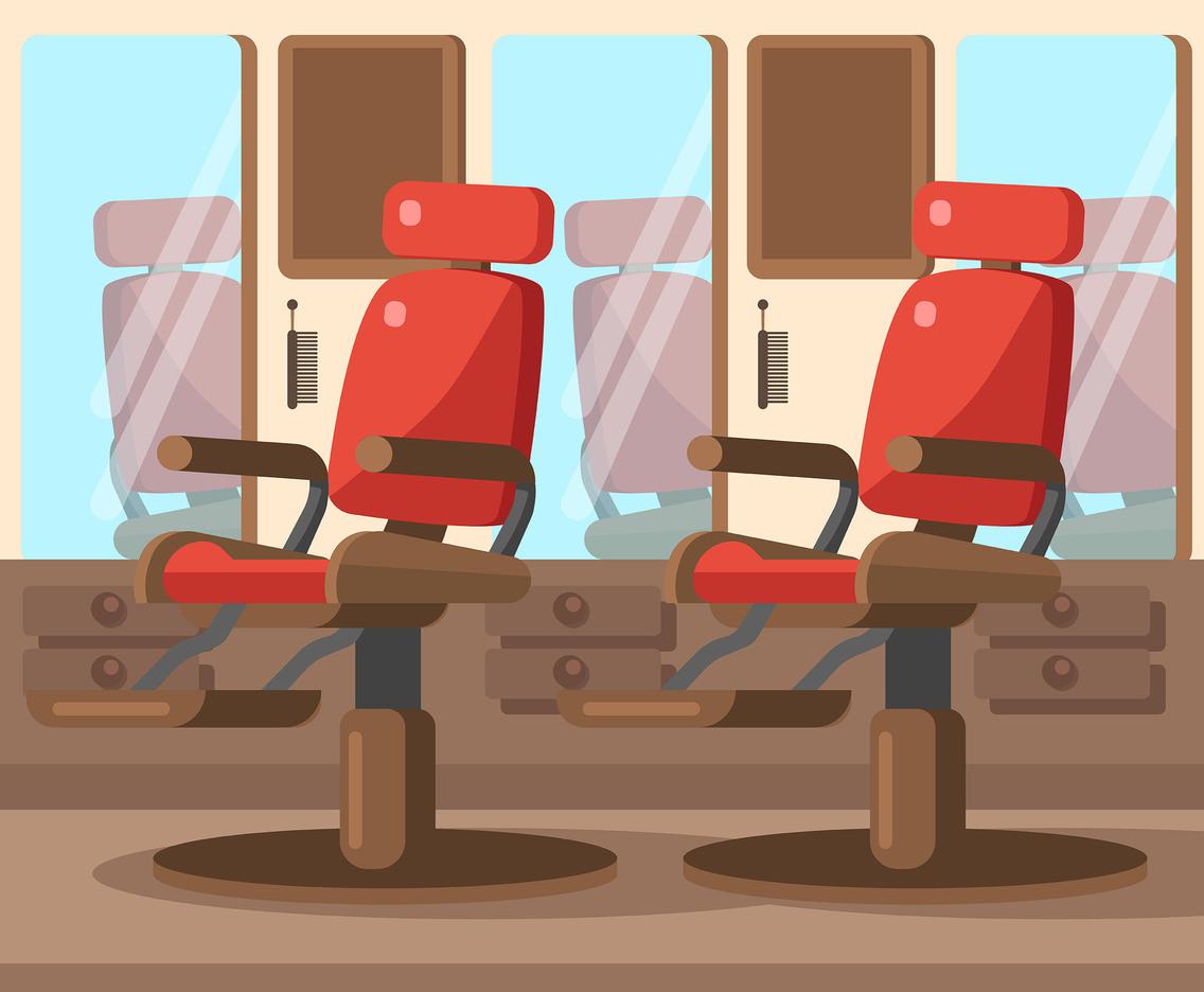 barber shop chairs steel ki chair vector art graphics freevector com