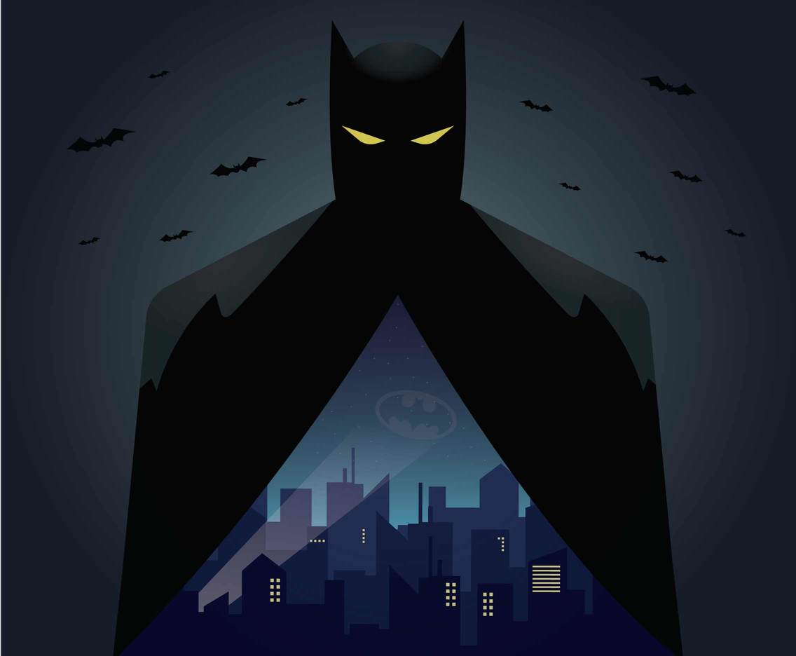 free batman illustration vector