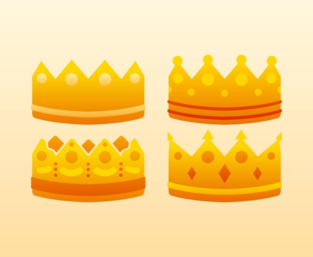 medium resolution of unique crown clipart set vectors