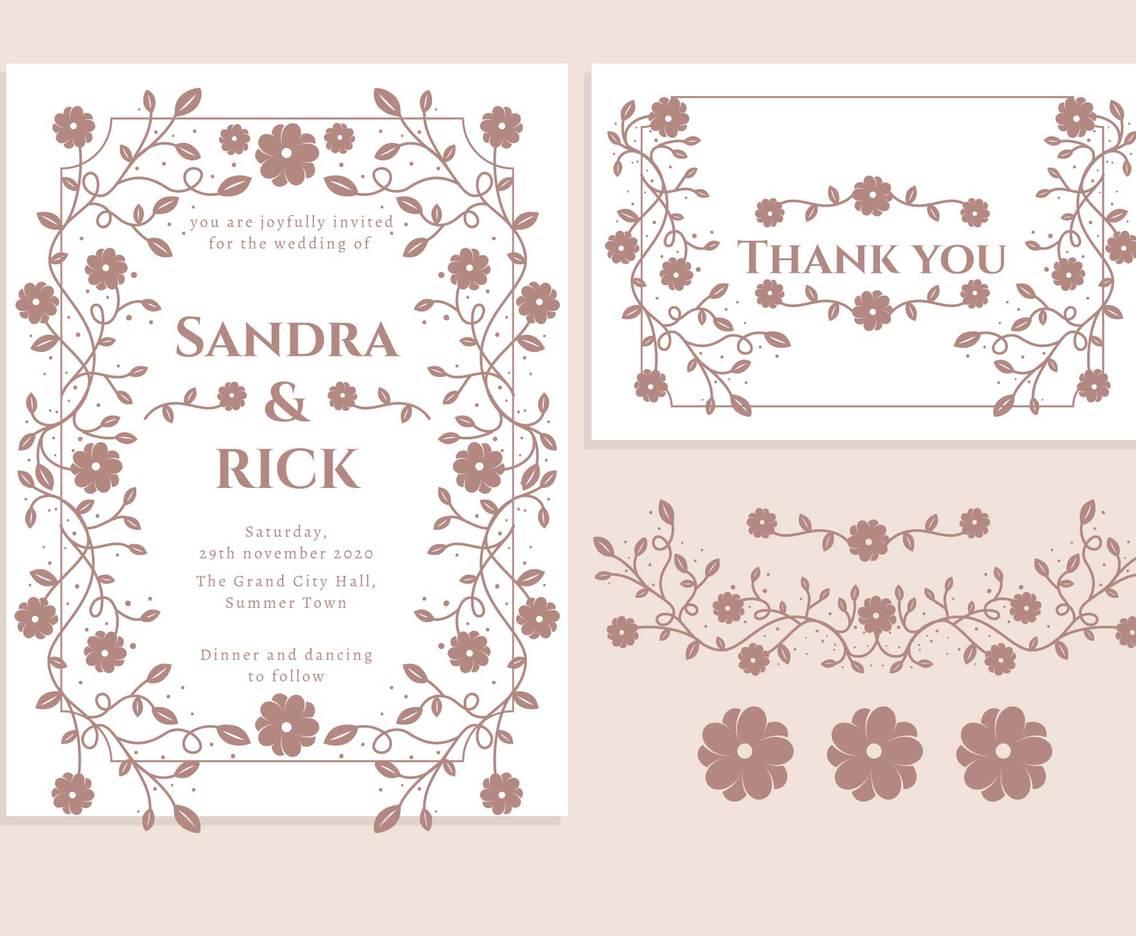 wedding invitation card vector art