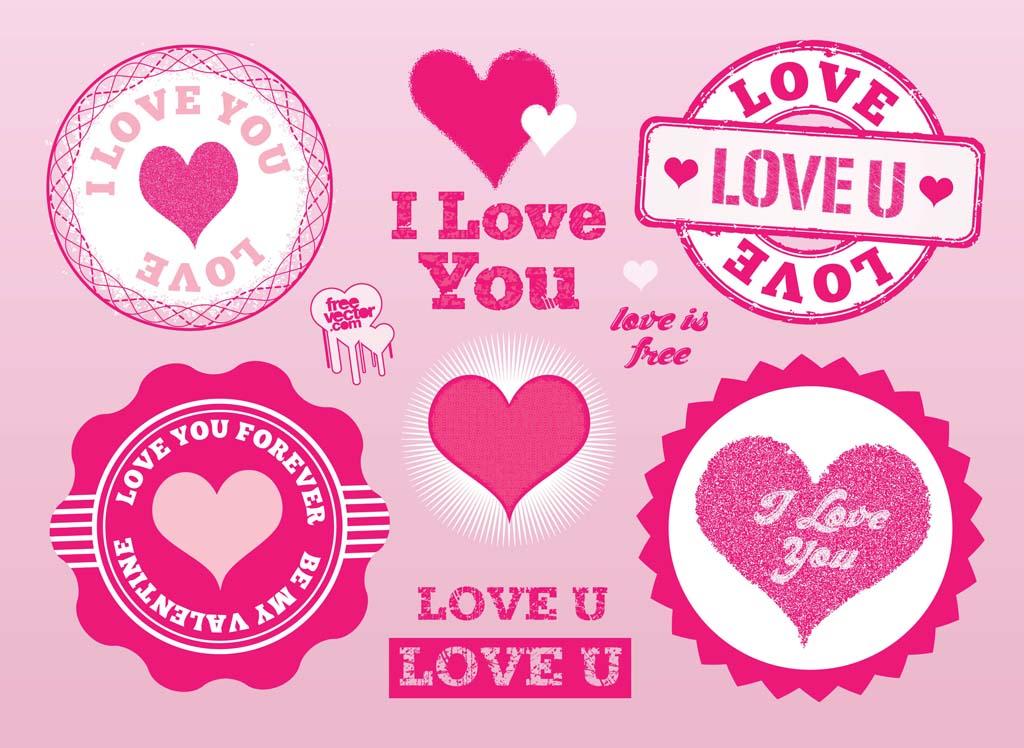 love stamps vectors vector