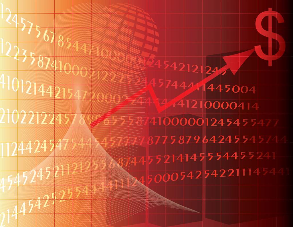 stock exchange vector vector