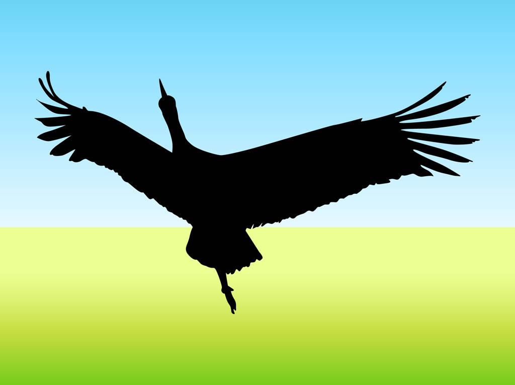 flying bird vector vector