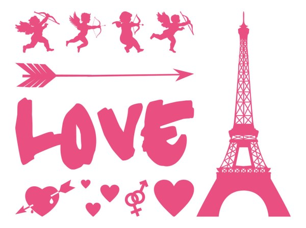 love graphics set vector art &