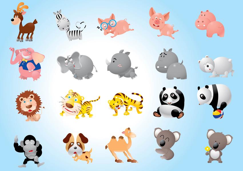 Animal Cartoons Pack Vector Art  Graphics  freevectorcom