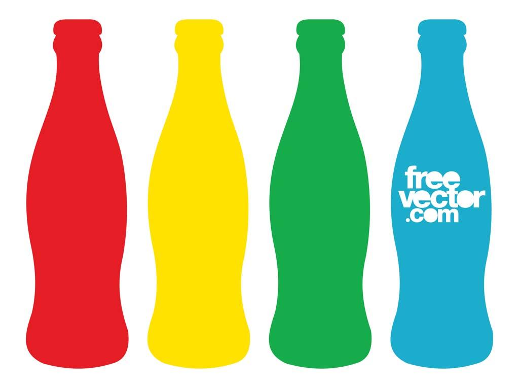 colorful beverage contour bottles