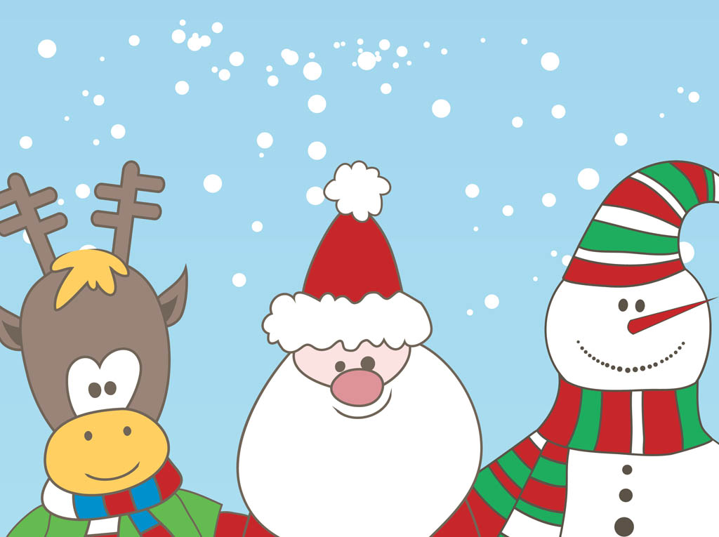 Christmas Characters Vector Vector Art Amp Graphics