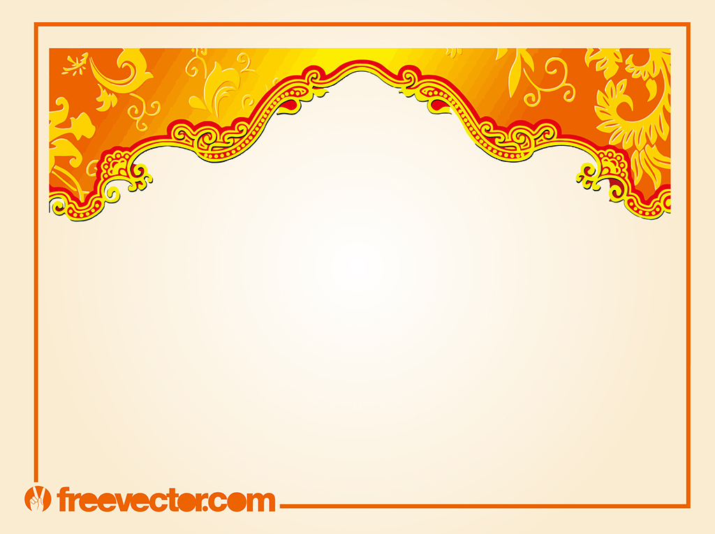 Border With Floral Scrolls Vector Art Amp Graphics