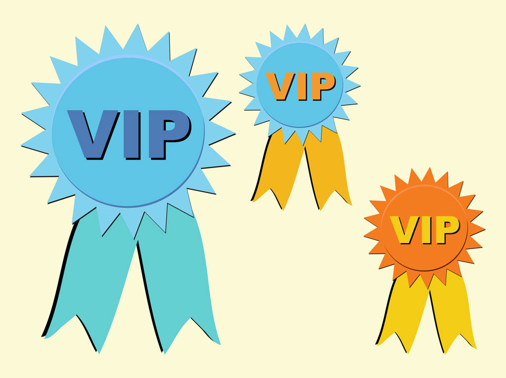 vip badges vector art