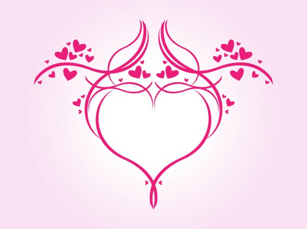 romantic heart graphics vector