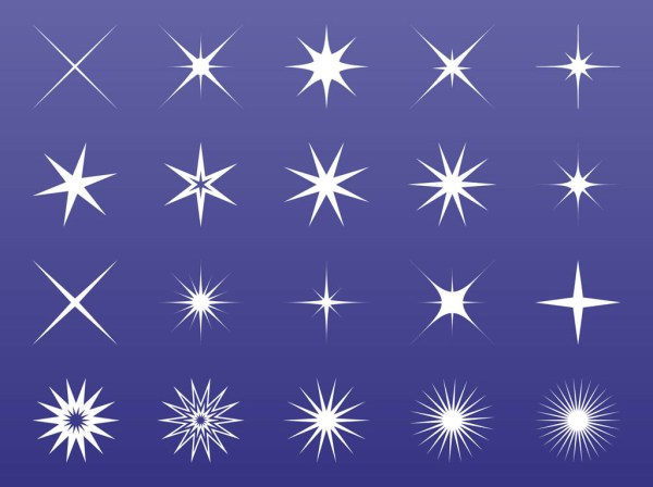 stars and sparkles graphics vector