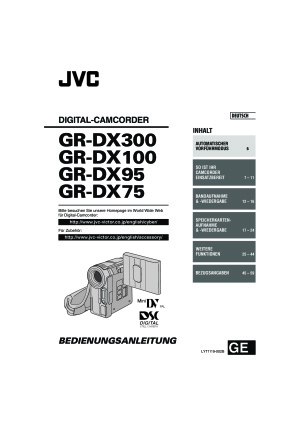 Bedienungsanleitung JVC GR DX100 Videokamera