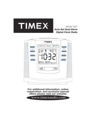 Bedienungsanleitung TIMEX T301 Radiowecker