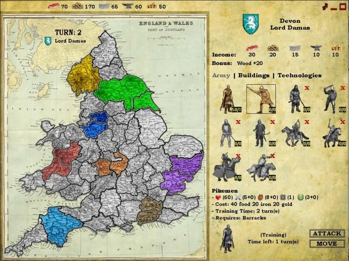 Knights of War Strategy Screenshot