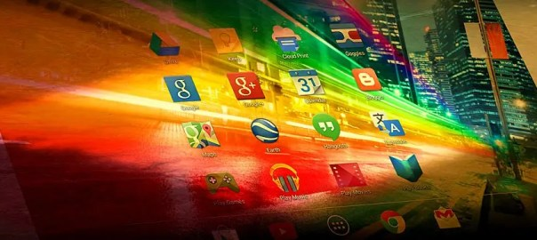 colorful tablet computer tech creative web header