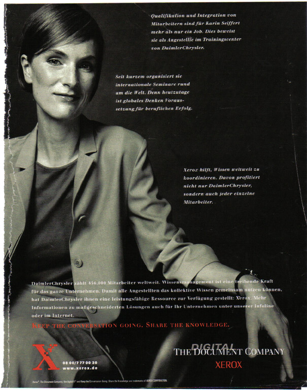 A magazine ad I wrote back in the day. You can tell, because I used my mom's name! ;-)