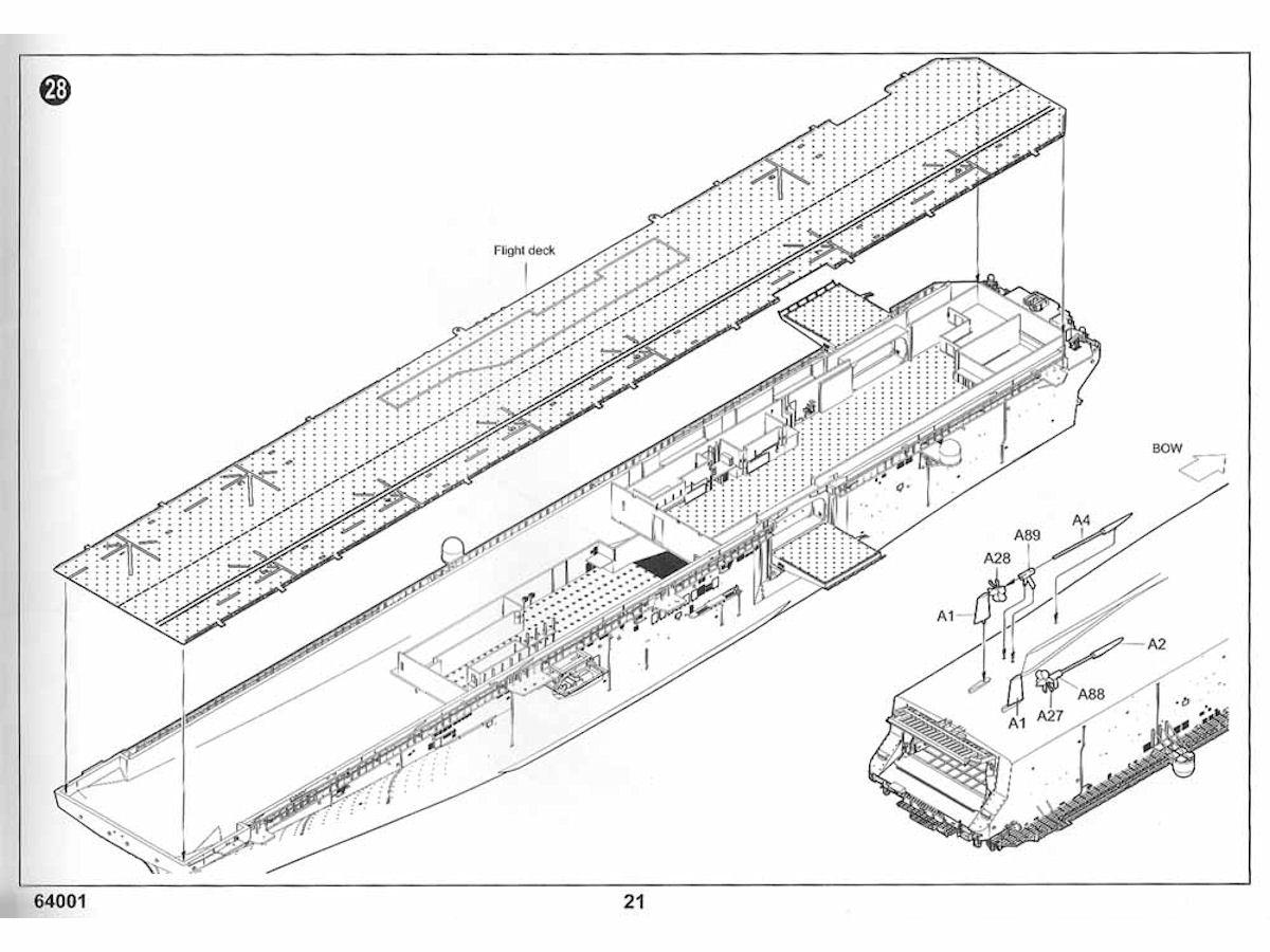 USS Iwo Jima, LHD-7, Gallery 1/350 Kit# 64002, OOB Review