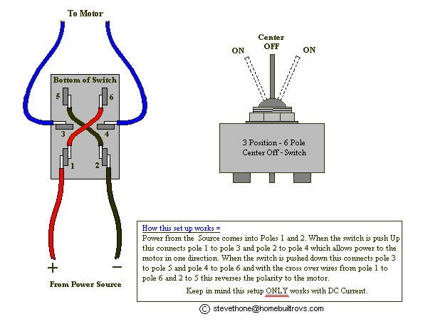 6 pin rocker switch wiring diagram 4 way trailer plug gmc 3 position three 20 30 kenmo lp de u20223