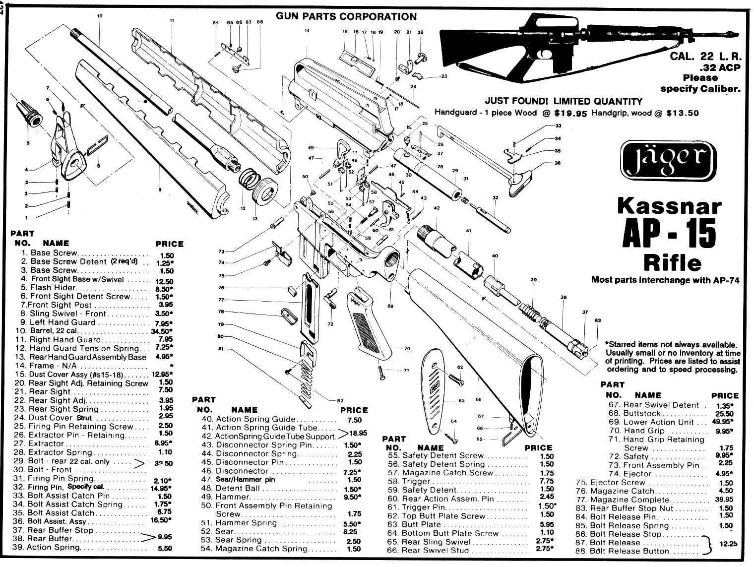 M 16 Rifle Schematic