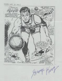 George King autographed this 1952 Tom Paprocki cartoon.