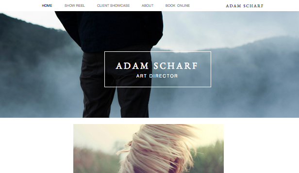 Art Director Portfolio Wix Template Wix Creative Arts Template