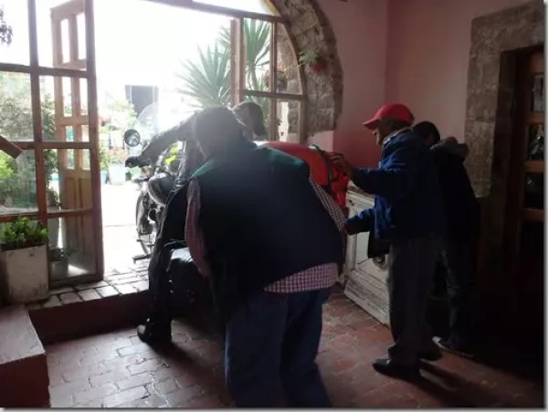 real de catorce hotel motorcycle parking