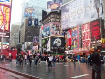 Times Square, with billboards for many of my favorite musicals