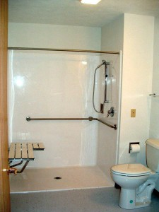 "A roll-in shower. If every ""accessible"" room had one of these, I'd be a happy traveler!"