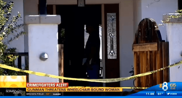 Crime scene tape surrounds my home