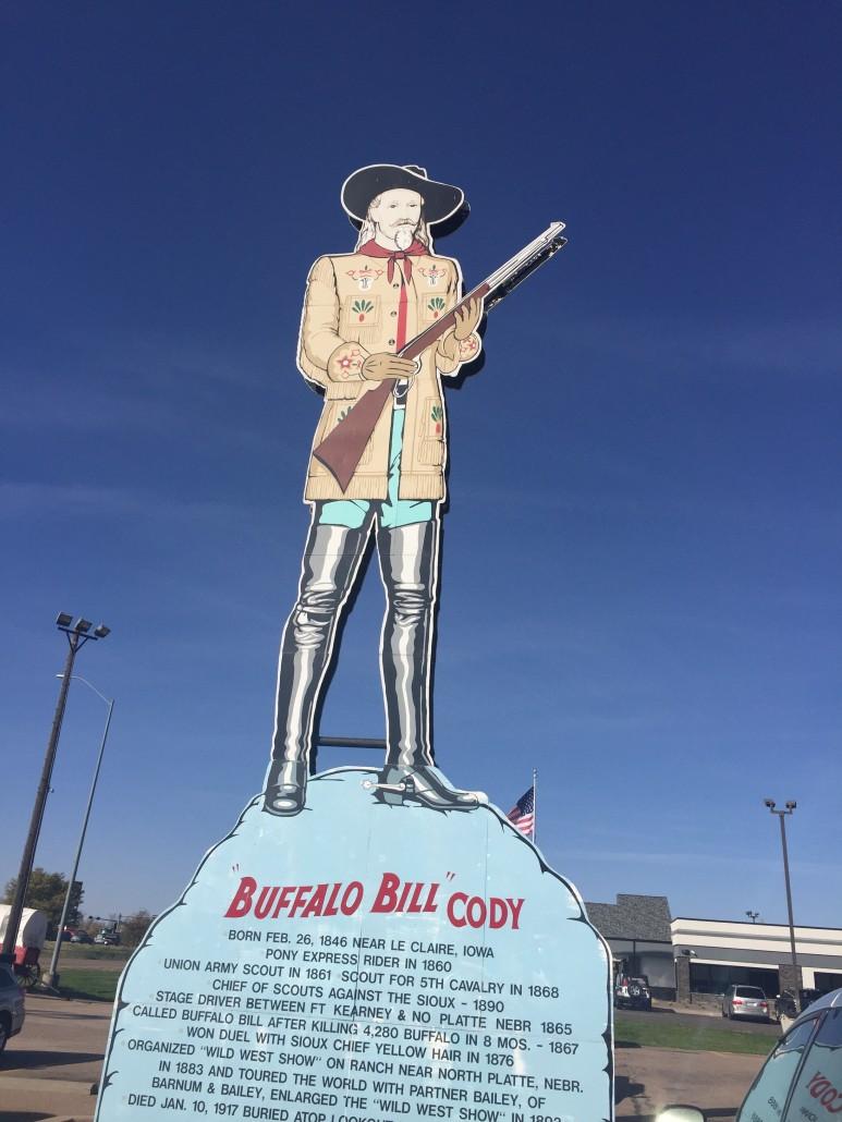 Buffalo Bill sign at Fort Cody Trading Post