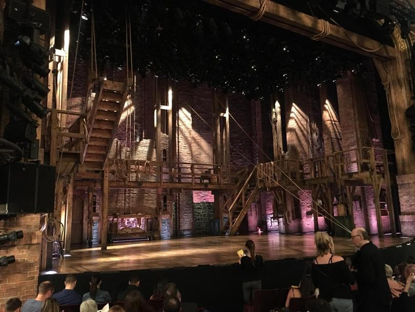 "Wheelchair accessible tickets for ""Hamilton"" on Broadway -- seating location."