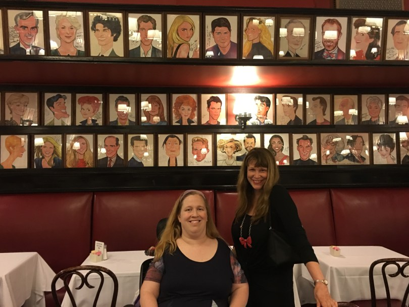 End your wheelchair accessible Broadway experience with a visit to Sardi's, where they have caricatures of Broadway performers on the walls.