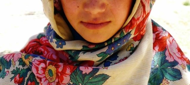 Afghan women traditional afghan scarf