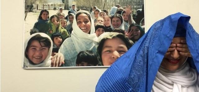 Afghan woman smiling