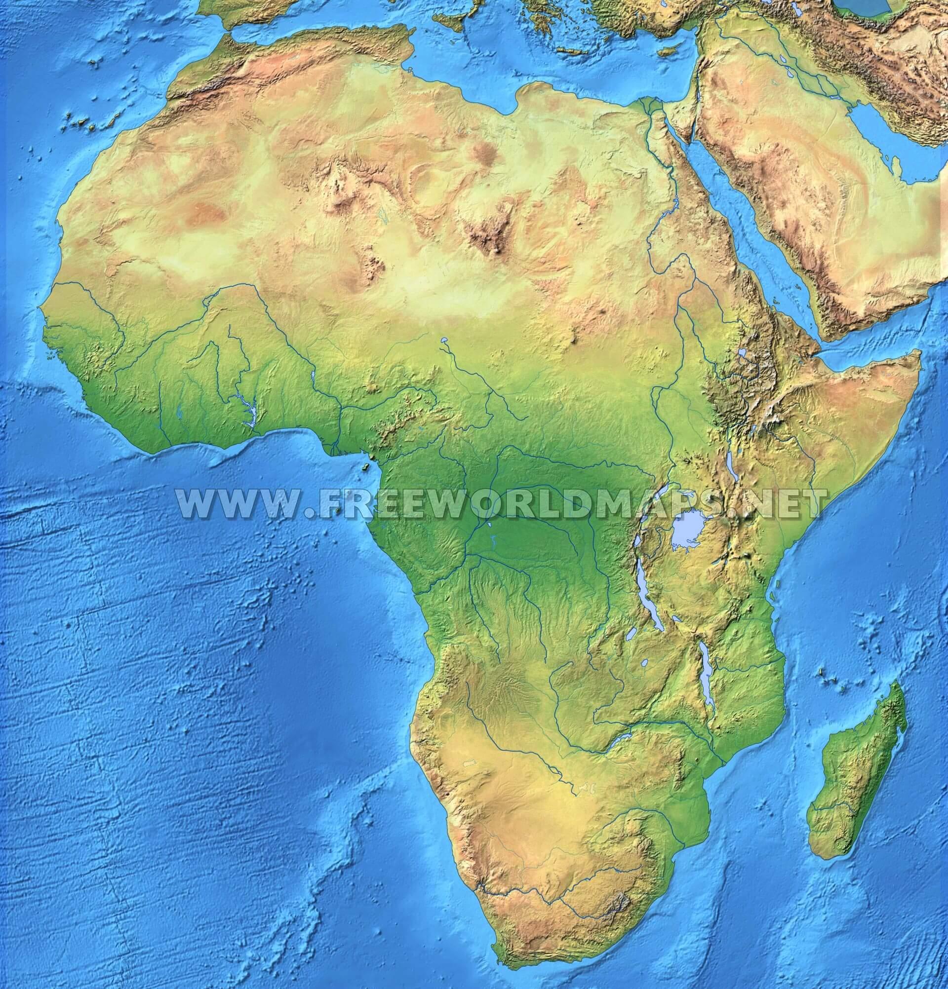 Africa Physical Map Freeworldmaps