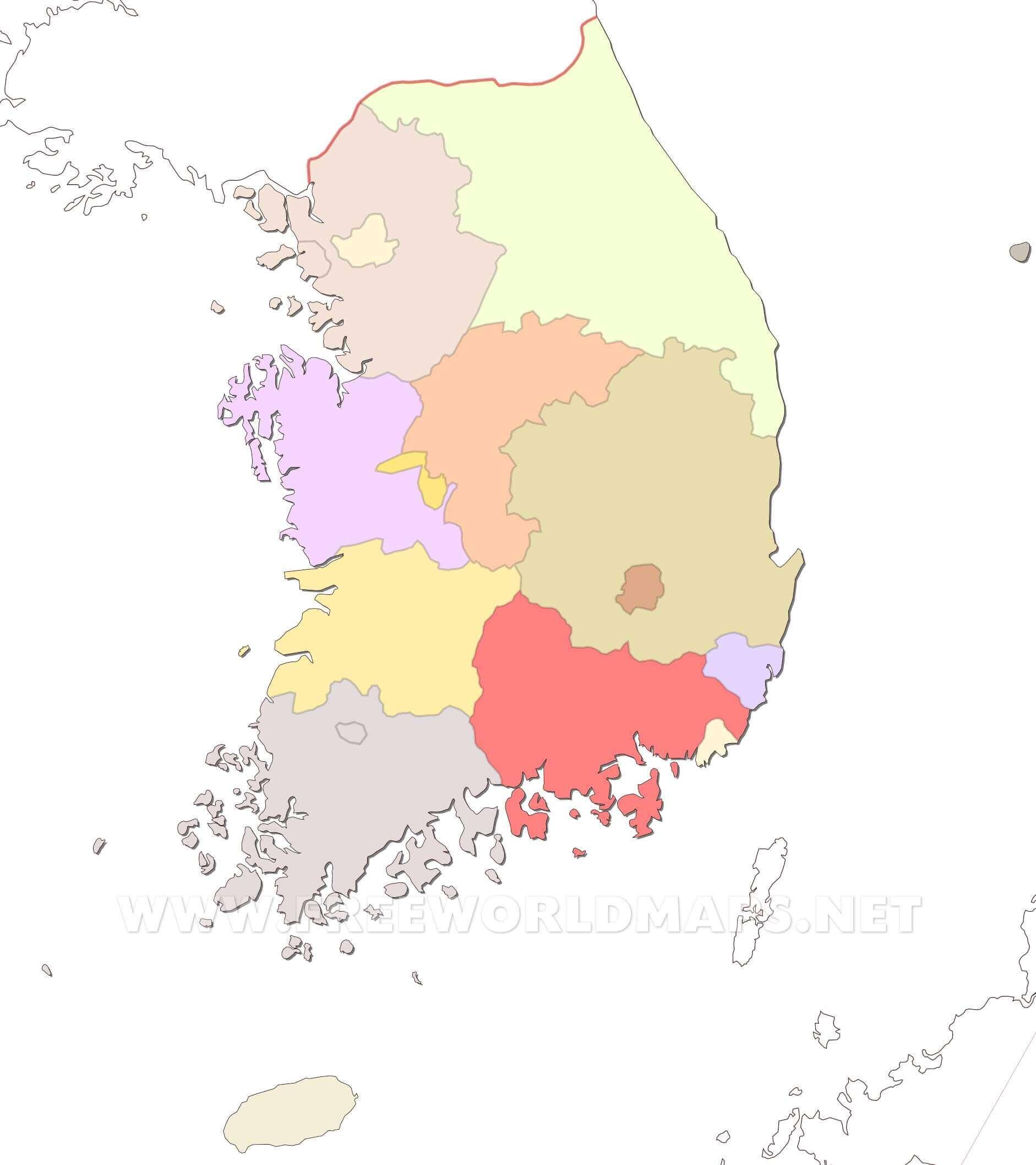 South Korea Maps