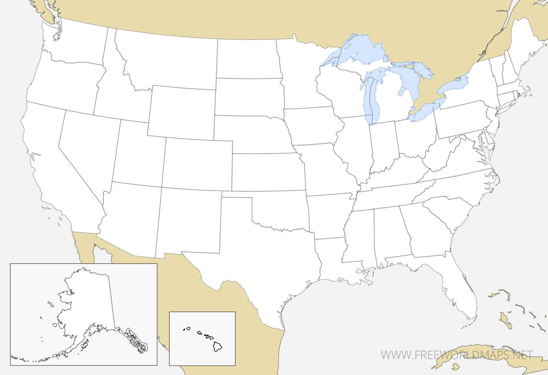 Blank map of the united states. Download Free Us Maps