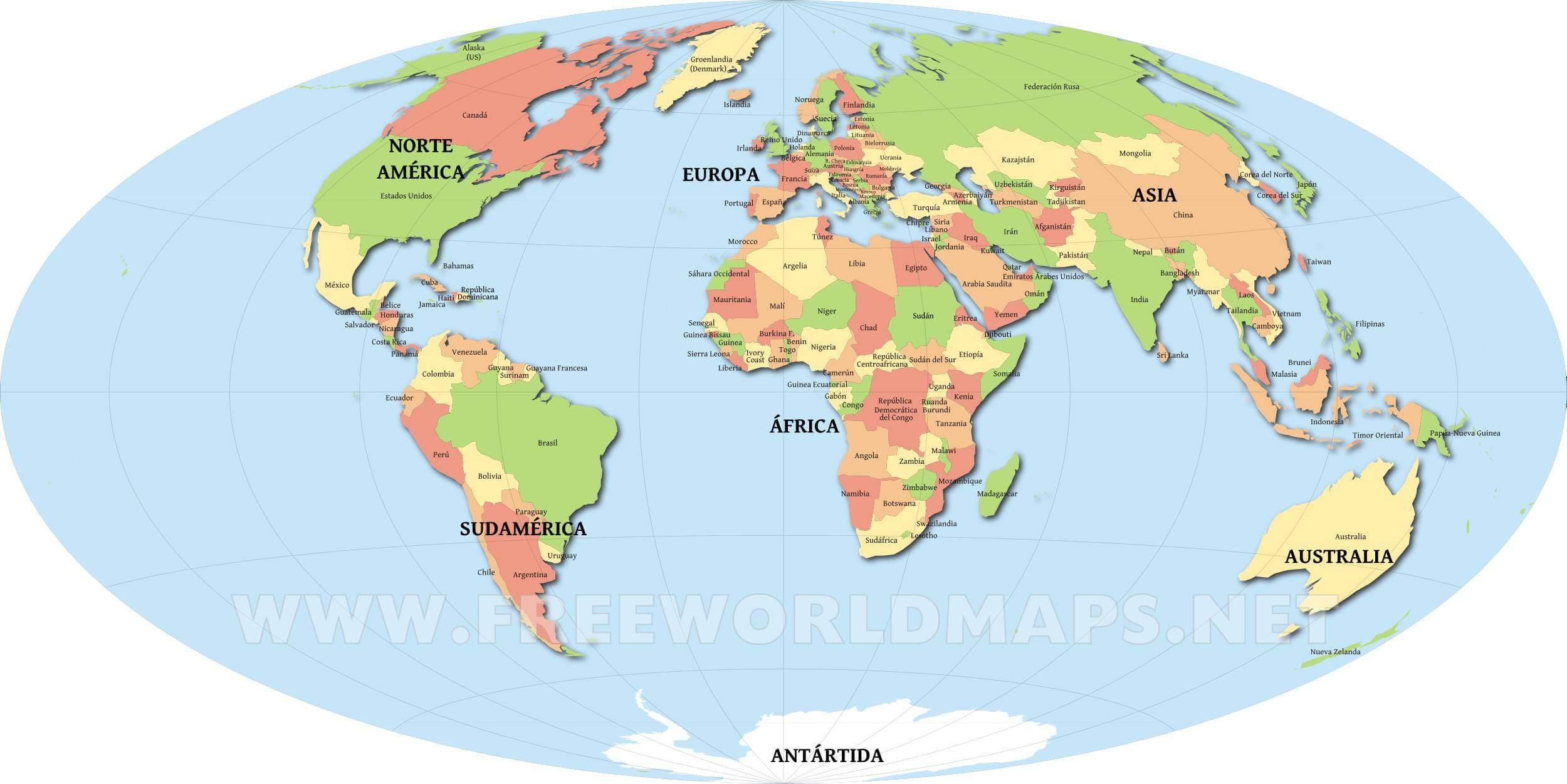 Mapa Mundial De Los Paises