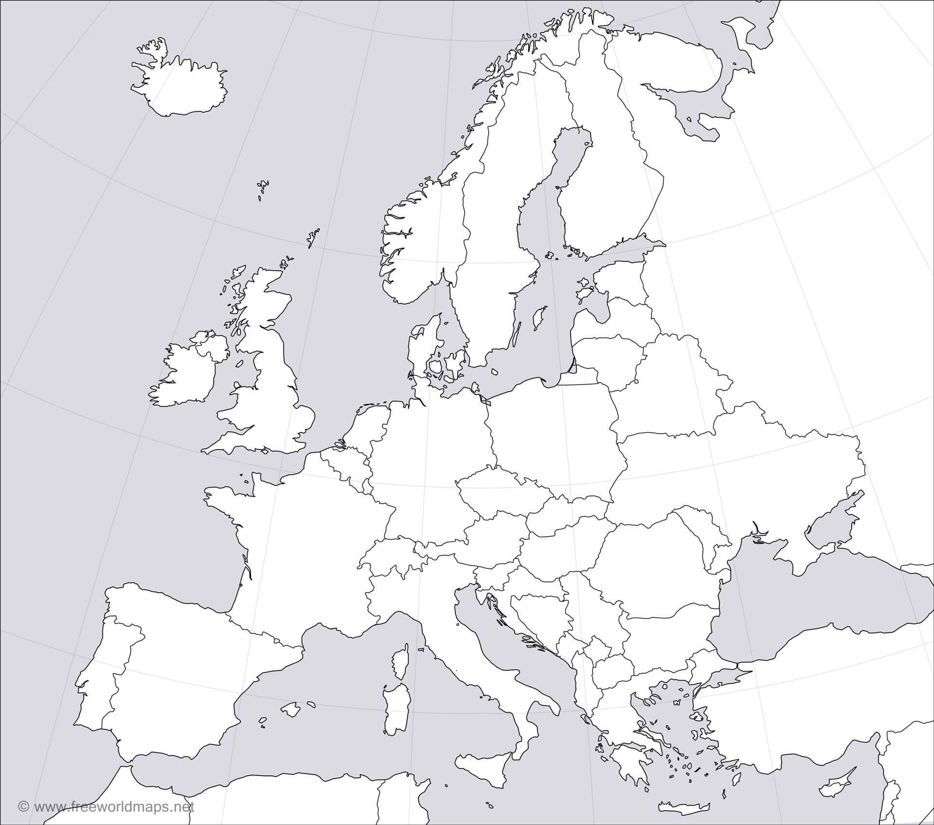 Europe Blank Map