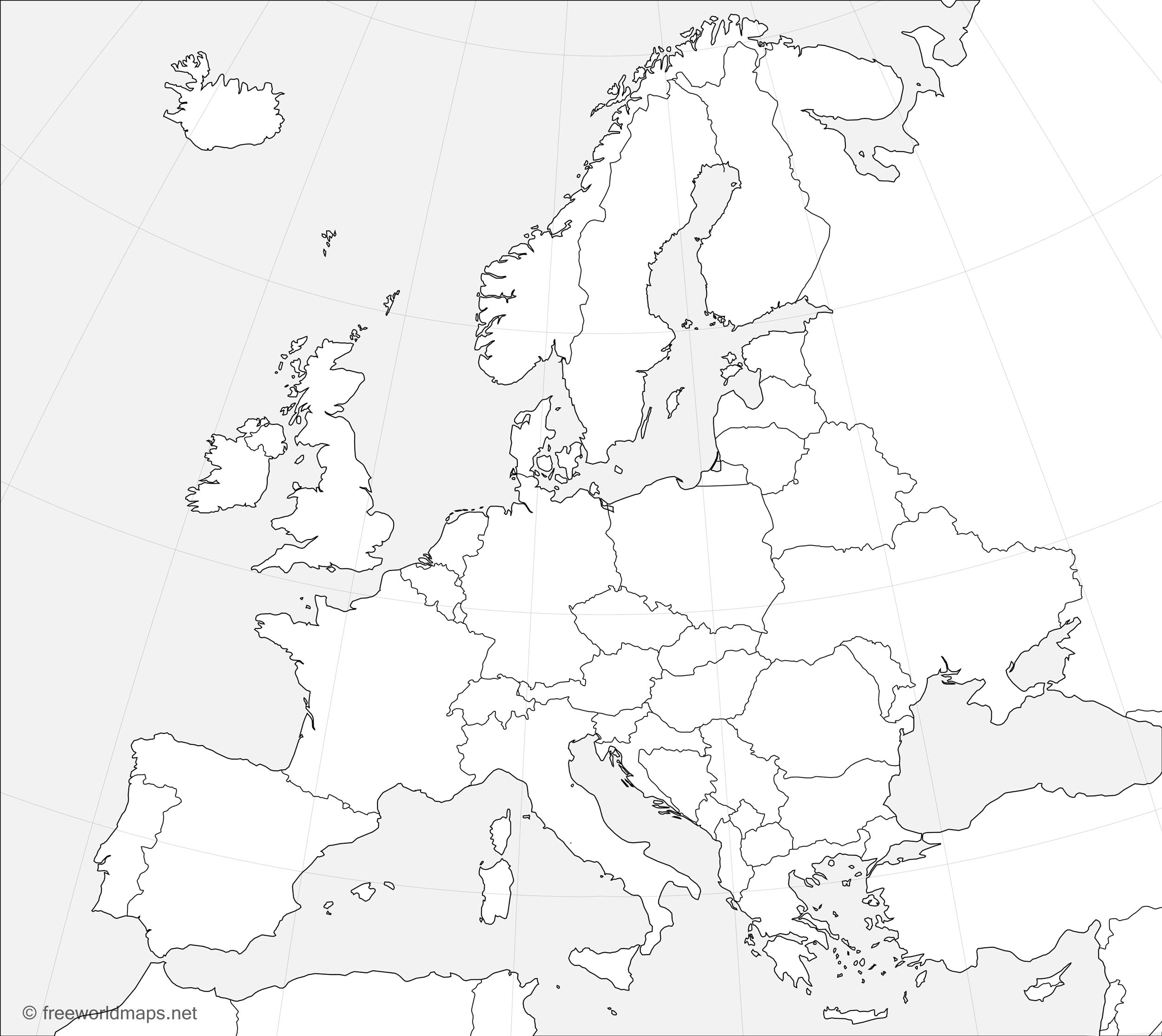 europe outline maps by