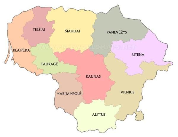 Lithuania Maps by Freeworldmapsnet