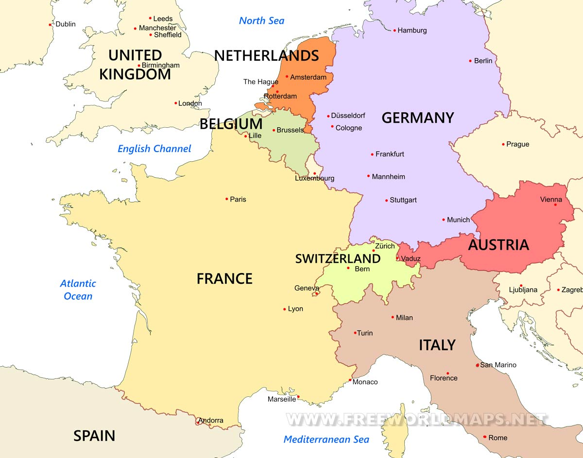 Western Europe Maps By Freeworldmaps Net