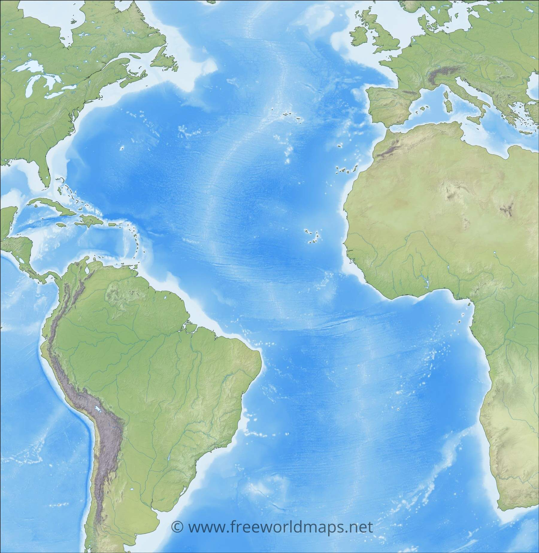 Atlantic Ocean Maps And Geography And Physical Features