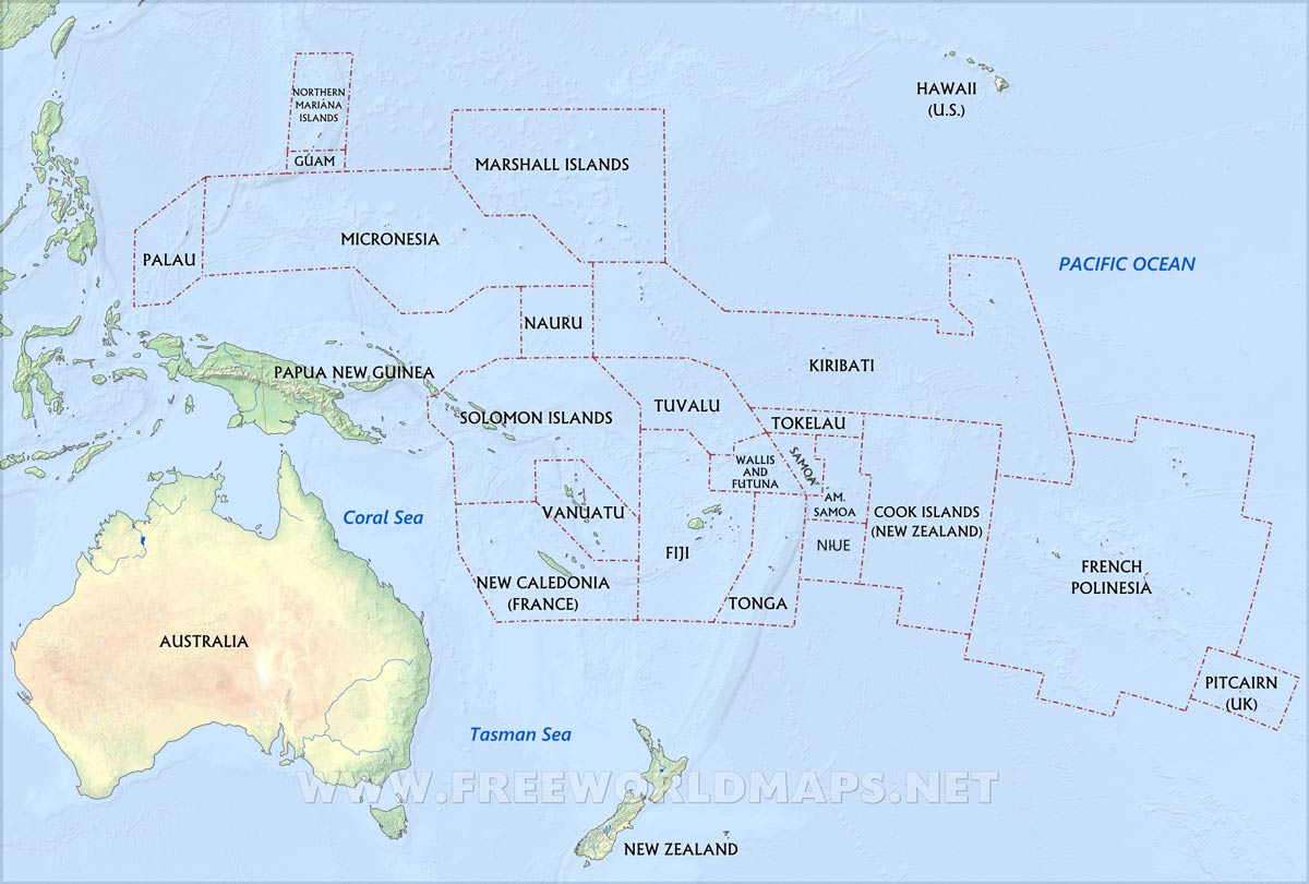 Image result for map of oceania