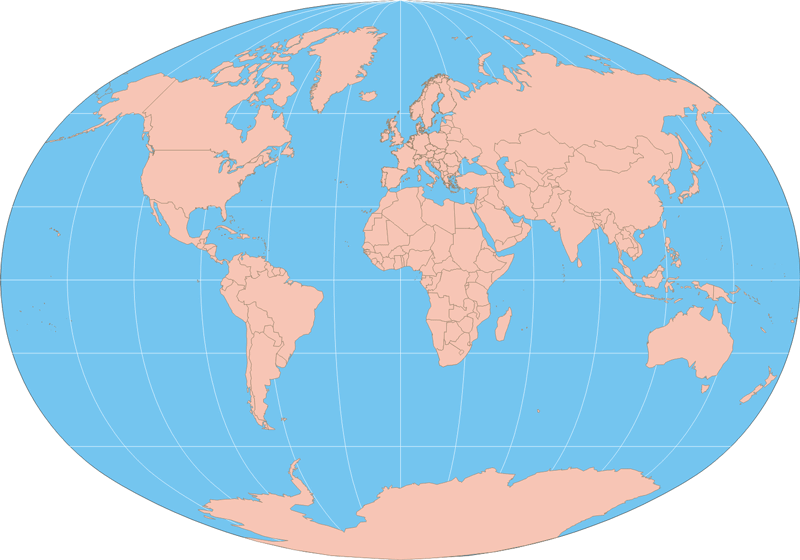 Blank Map Of The World With Countries To Label