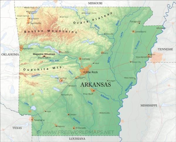 Map of Arkansas Arkansas Maps Mapsofnet