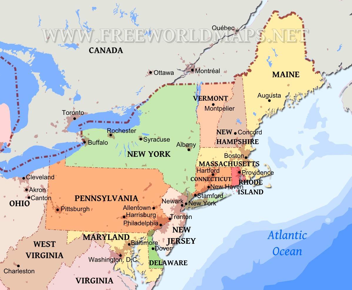 Northeastern Us Maps