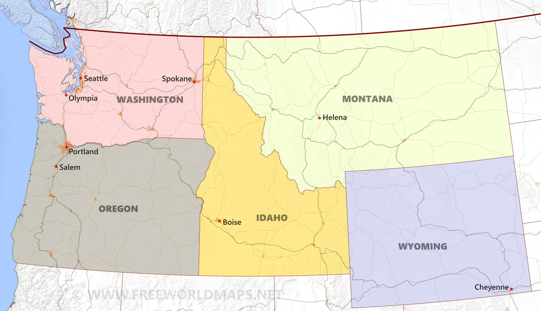Northwestern Us Political Map